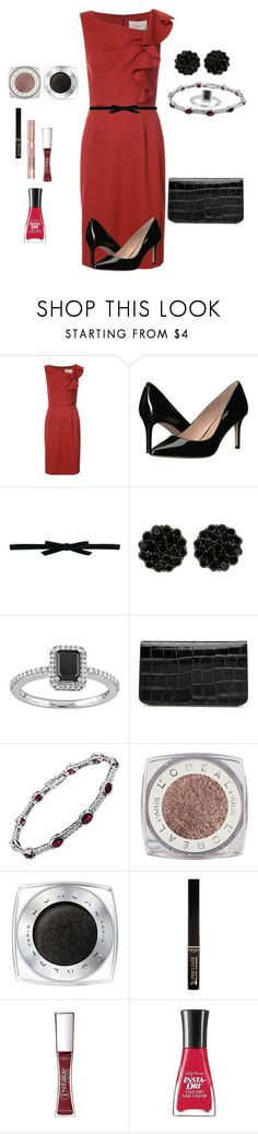 """Ms. Fannie"" by kimchk ❤ liked on Polyvore featuring Carolina Herrera, BCBGeneration, Philosophy di Lorenzo Serafini, Alexander McQueen, L'Oréal Paris and Sally Hansen"