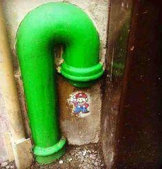 Street Art ~ Love Mario.