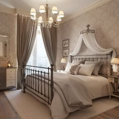 Saint Petersburg Apartment with a Classic Curve - Image 07 : Neutral Luxurious Rural Bedroom