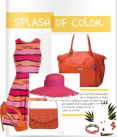 """""""Splash of Color with Grace Adele"""" by styles2love on Polyvore"""