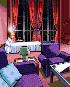 Pixel art: hotel suite