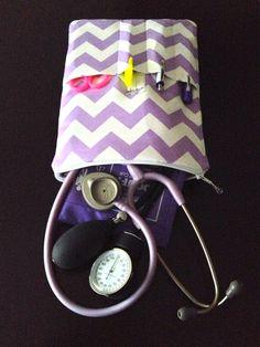 chevron NURSING PURSE for a nurse  stethoscope bag by LoveAmarie
