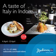 Get set on a culinary journey to delight in the sumptuous delicacies proudly representing their origin. Come and delve into the blast of flavours in #Pastas and #Risottos with Italian #wine and partake in the gastronomic adventure with your friends, family and loved ones at TCK, all day #dining | Radisson Blu Hotel, #Indore