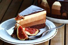 Tres Chocolates, Mousse, Cheesecake, Desserts, Food, Tailgate Desserts, Deserts, Cheesecakes, Essen