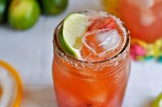 """Yum... Fresh Strawberry Margaritas!.. by """"now sweet it is""""."""