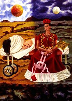 1946 Frida Kahlo Arbre de l'espérance, Tiens-toi droit, Détail, le corps, Tree of the hope, Be held right, Détail, the body. #Art #Mexico #deFharo