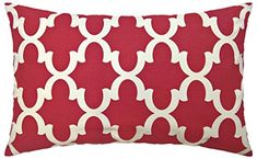JinStyles Cotton Canvas Quatrefoil Accent Decorative Throw Lumbar Pillow Cover / Cushion Sham (Christmas Red, White, Rectangular, 1 Cushion Sham for 16 x 26 Inserts) >>> Details can be found by clicking on the image. (This is an affiliate link) Diy Pillow Covers, Diy Pillows, Cushions, Quatrefoil, Red Christmas, Lumbar Pillow, Decorative Throw Pillows, Cotton Canvas, Image Link