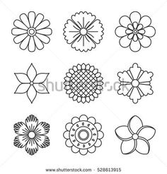 Elements of abstract flowers. Submitted in a linear style.