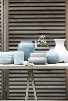 Light turquoise vases and windlights from the summer 2013 of Broste Copenhagen - Home Decor for Home Decor Home And Living, House Interior, Home Accessories, Home, Interior, Interior Styling, Home Deco, Interior And Exterior, Home Decor