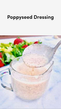 Sweet Salad Dressings, Salad Dressing Recipes, Salad Recipes, Homemade Healthy Salad Dressing, Healthy Salad Dressings, Easy Salads, Easy Meals, Kidney Friendly Foods, Cooking Recipes