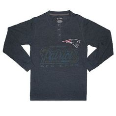 Official New England Patriots ProShop - BSD Henley II Top-Navy
