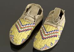 Sioux Beaded Hide Moccasins,