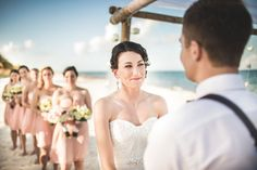 Gorgeous wedding at Excellence Playa Mujeres. #Bride #BridesMaids #BeachWedding #Mexico