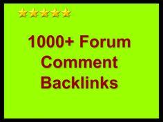 skyROCKET your website with 1000 forum comment backlinks for $5
