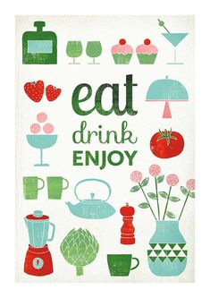 Less time cooking means more time eating, drinking and enjoying time with your family. #DinnerIn15 | illustration by Leen den Pelseneer