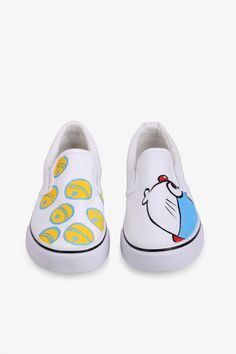 Simple Style Sneakers With Doraemon Print