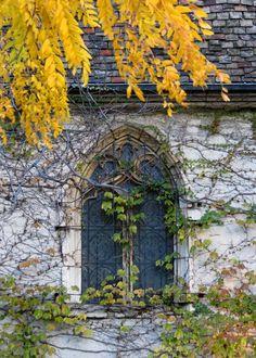 West window of Marquette University's St. Joan of Arc Chapel.