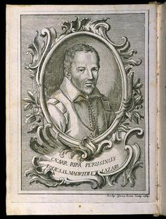 """Cesare Ripa nacque a Perugia intorno al 1555. Soggiornò a lungo a Siena e a Roma, dove fu al servizio del cardinale Antonio Maria Salviati. L'""""Iconologia"""" è il libro della sua vita, che scrisse, riscrisse e ampliò per circa trent'anni. Morì a Roma nel 1622."""