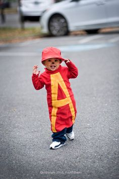 Pretty happy with how this costume came out for my little guy!   Homemade Costume  Alvin of Alvin and the Chipmunks!    @hellojumpy