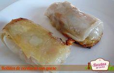 Rollitos de verduras con queso -  ¿Buscas un aperitivo para tomar con los amigos antes de la cena? Os traemos una receta de rollitos de verduras con queso que quedan deliciosos. Otra idea es ponerlo en una cena de picoteo con una tortilla de patata, un poco de embutido y una buena ensalada. Verás como triunfanéstos... - http://www.lasrecetascocina.com/2012/12/31/rollitos-de-verduras-con-queso/