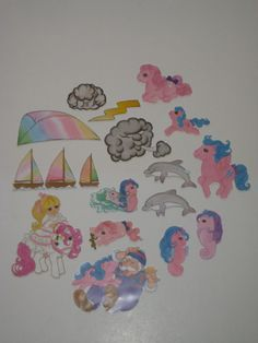 """1985 Colorforms My Little Pony Book """"Embers"""" with 18 Pieces"""