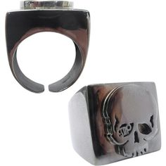 skull ring in relief, found on Polyvore