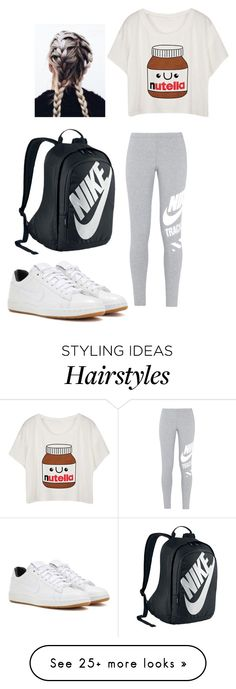 """""""OOTD #28"""" by janelingodfrey on Polyvore featuring NIKE, ootd, nike and spring2016"""