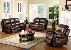Elegant And Durable Leather Living Room Sets Throughout Living Room Leather Furniture Sofa Design, Sofa Set Designs, Leather Reclining Loveseat, Sofa And Loveseat Set, Recliner Chairs, Room Chairs, Sofa Bed, Couch Set, Recliners