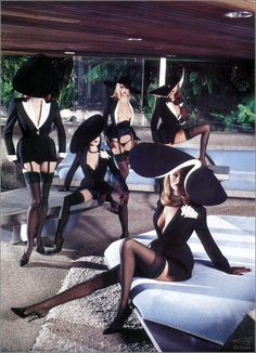1999 Jerry Hall - Thierry Mugler For Playboy by Helmut Newton