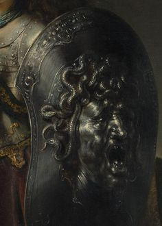 Devious detail from Bellona, by Rembrandt van Rijn