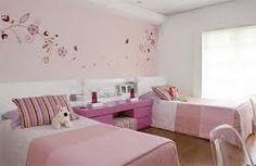 habitación niña rosa y lila con vinilos decorativos - Buscar con Google