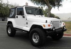 White jeep wrangler, totally getting one when I'm done with school and working as an RN!