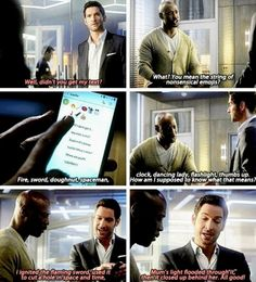 #Lucifer3x01 ▪They're Back Again, Aren't They?▪ Lucifer and his text made of emojis