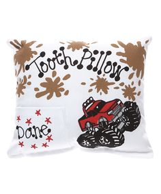 Love this Red Monster Truck Personalized Tooth Pillow by Bunnies and Bows on #zulily! #zulilyfinds
