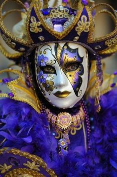 Venice carnival costume/mask by live4love