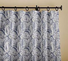 1:12 scale Sheers Paisley Dollhouse Curtains with Pleated Satiny Semi