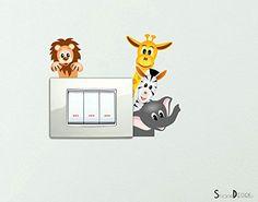 Adesivi Animaletti della savana che si affacciano Simpatici Wall Stickers Simpatico Adesivo Elefantino Zebra Giraffa Leone decorativo Cameretta spine placche Wall Stickers decorativo Adesivi Murali Decorazione Interni StickerDesign http://www.amazon.it/dp/B00SDFM14M/ref=cm_sw_r_pi_dp_ORofxb1VTXBV8