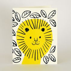 Jungle Lion card from Lisa Jones Studio (silk screened onto recycled card)