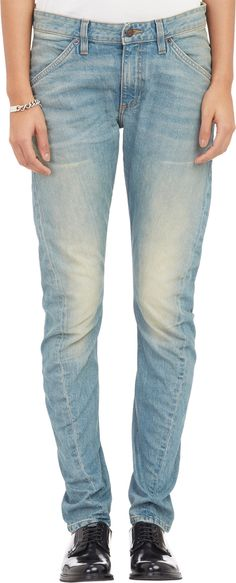 Twisted-Seam Skinny Jeans