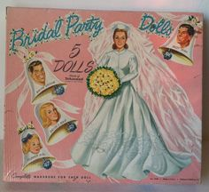 Vintage 1950's Bridal Party Paper Dolls