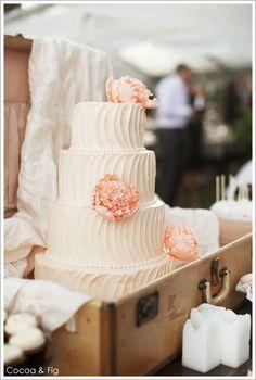 Romantic Rose and Peach Dessert Display
