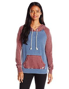Listed Price: $49.95 Loose knit French terry pullover hoody with garment burnout color block hood sleeves and pocket.... Read more...