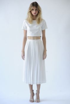 Joie RTW Spring 2014 -literally all over the runways: crop tops and full skirts!