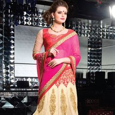 #Lehenga Style #Saree with Blouse