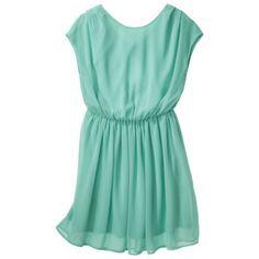 Xhilaration® Junior's Open Back Chiffon Dress - Sea Green Girly Girl, Chiffon Dress, Passion For Fashion, Spring Summer Fashion, What To Wear, Bridesmaid Dresses, Bridesmaids, Cool Outfits, Summer Dresses