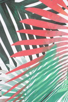 Yolanda Fronda Fabric Sample #tropical #print #palm