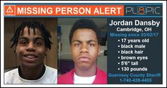 """Police in Guernsey County, Ohio need your help finding 17 year old Jordan Dansby. Jordan was last seen on Thursday, March 2, 2017 in Cambridge, Ohio. Jordan is described as a black male with black hair and brown eyes, 5'6"""" tall, and weighing 130 pounds. Jordan is known to have his hair done in dreadlocks. <p> <br> If you have seen Jordan or have any information about him, please contact the Guernsey County Sheriff's Office at 1-740-439-4455. If you have five seconds,..."""