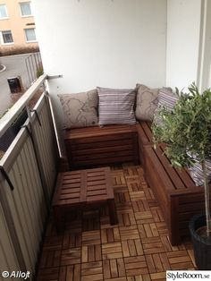 Balkon Ideen Dekoration balcony-design-wood-floor tiles-ikea-wood-bench-Throw A Health Care Article Balcony Bench, Narrow Balcony, Small Balcony Design, Small Balcony Garden, Small Balcony Decor, Small Balcony Furniture, Small Balconies, Balcony Gardening, Balcony Ideas
