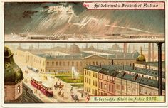 1900 visions of the year 2000 Vintage Ephemera, Vintage Postcards, Vintage Art, City Year, Walled City, Retro Futuristic, World's Fair, Imagines, What Is Life About