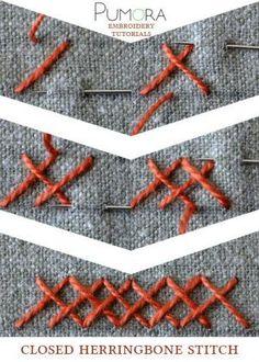 closed herringbone stitch tutorial